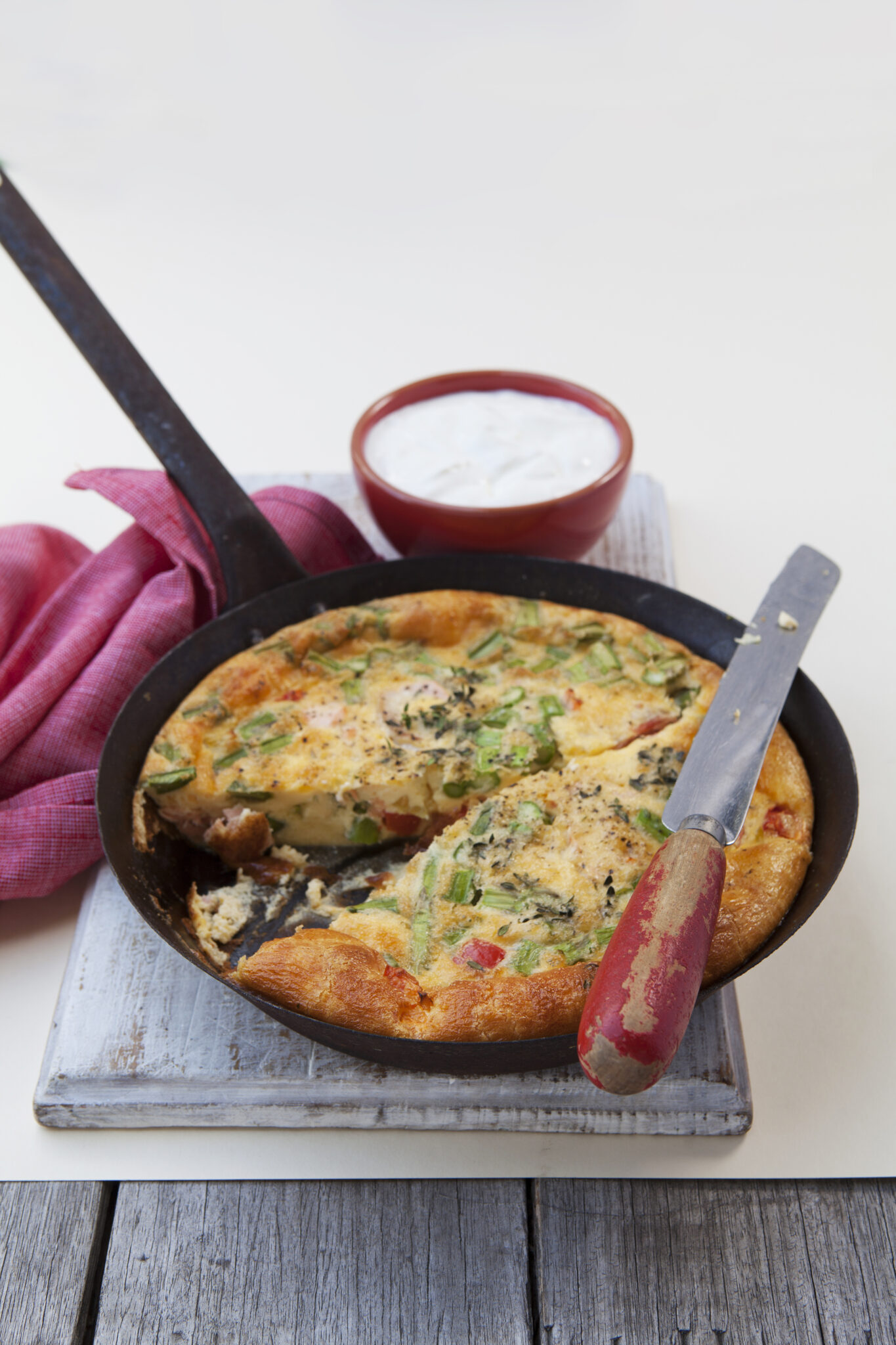 Asparagus and Salmon Frittata